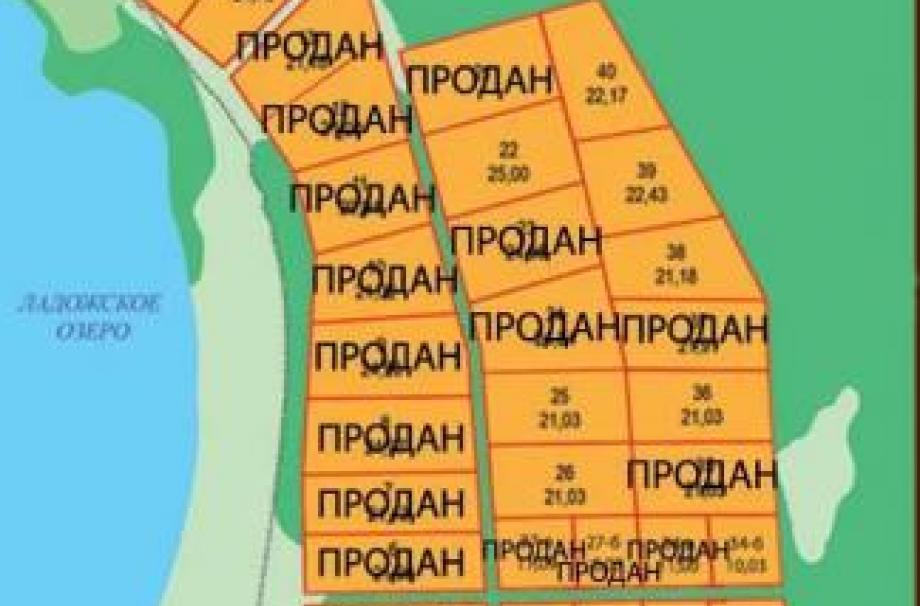 Генплан поселка Ладожский простор