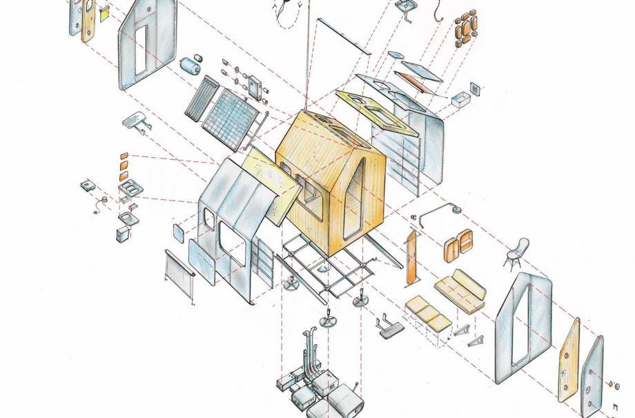 Домик Диогена - концепция по проекту Ренцо Пьяно и RPBW.