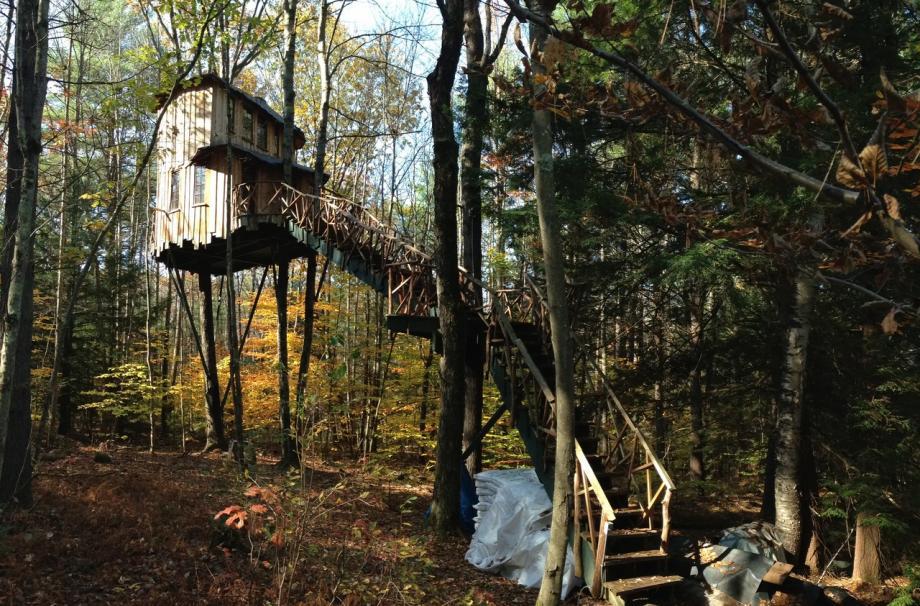 загородный домик на дереве