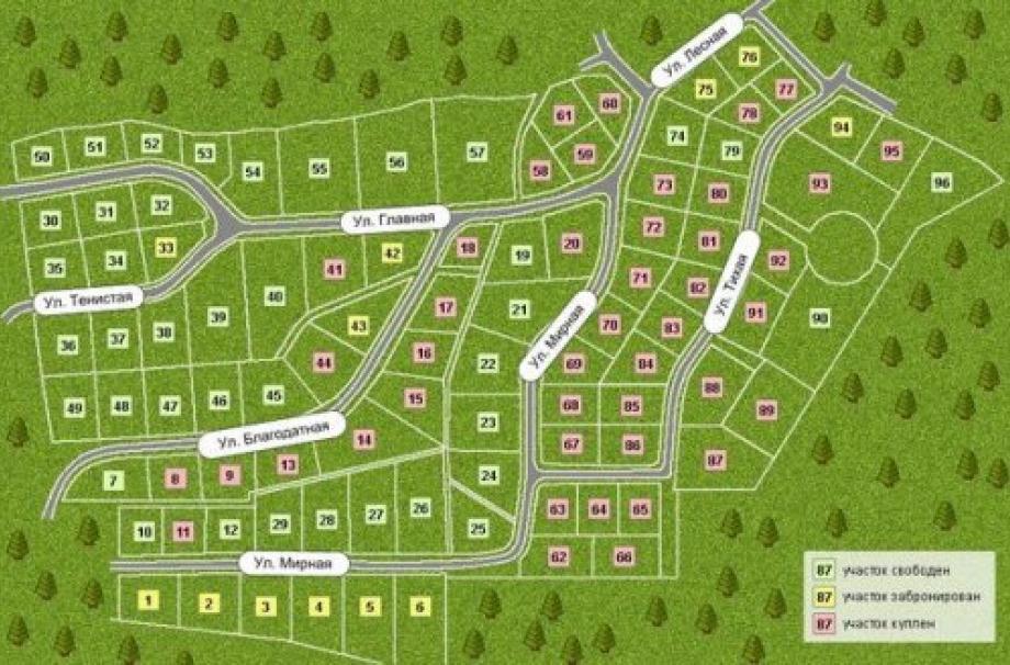 Генеральный план поселка Охтинское раздолье
