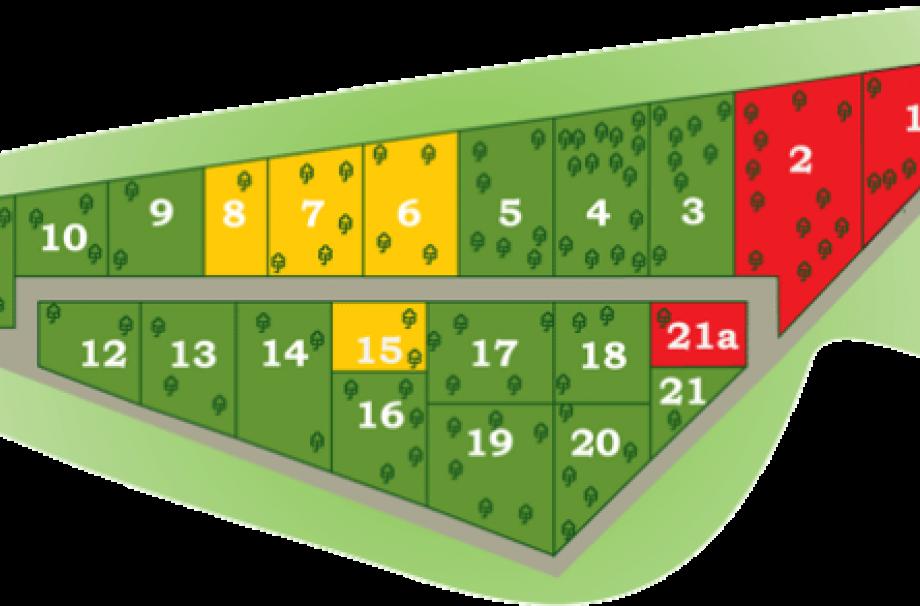 план участков в коттеджном поселке Алакюля