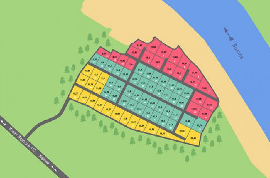 Генеральный план поселка Волхов Яр