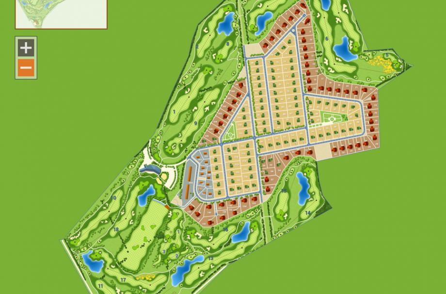 Генеральный план коттеджного поселка Земляничные поляны